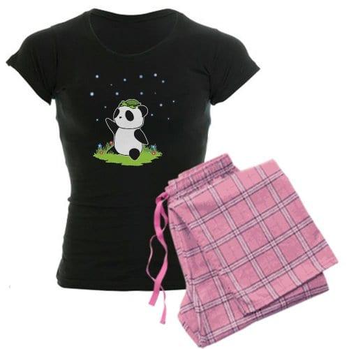 7be22cdda CafePress Women's Dark Pajamas – Turtle on a Panda Women's Dark Pajamas – M  With Pink Pant