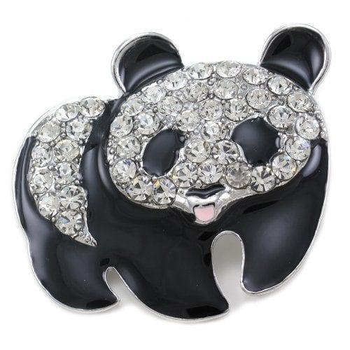 Black & White Panda Pin Bear Brooch Charm Animal Lovers for Women Girls  Teens Fashion Jewelry