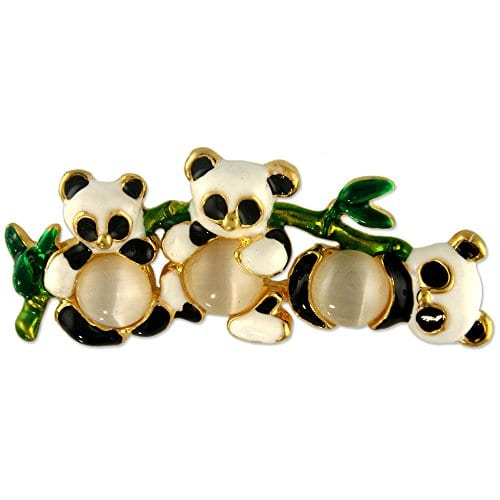 cefffe77e39 CUTE GOLD PLATED PANDA PIN BROOCH - Panda Things