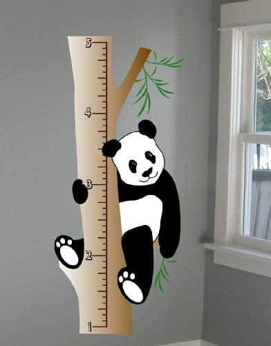 Panda Growth Chart Wall Decal