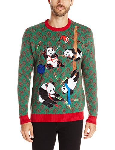 Mens Christmas Sweater.Ugly Christmas Sweater Red Green Small Blizzard Bay Men S Drunk Panda Party