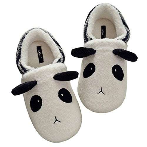 74fd8c26429 HALLUCI Women s Cozy Fleece Memory Foam House Trick Treat Halloween Slippers  ...
