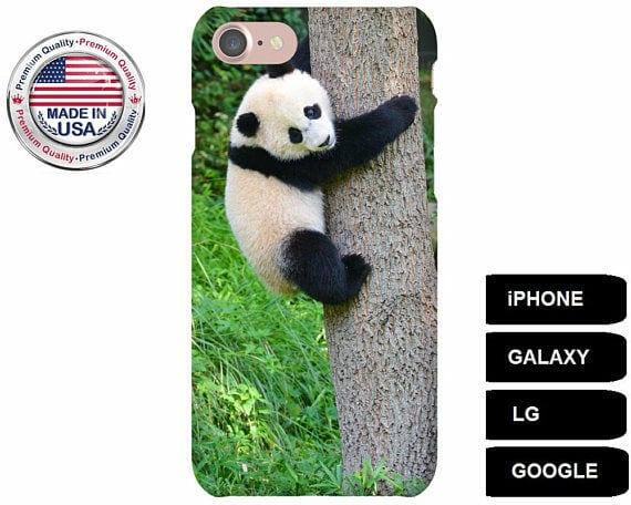 online store cfd8c 8fd37 Panda Phone Case, Panda Bear Phone Case, Panda iPhone 8, Panda Galaxy S7  Edge