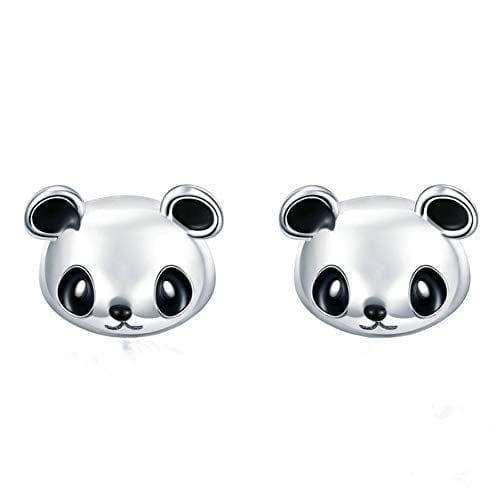 925 Sterling Silver Cute Panda Bear Stud Earrings for Children Kids Animal  Jewelry LSE74   Panda Things