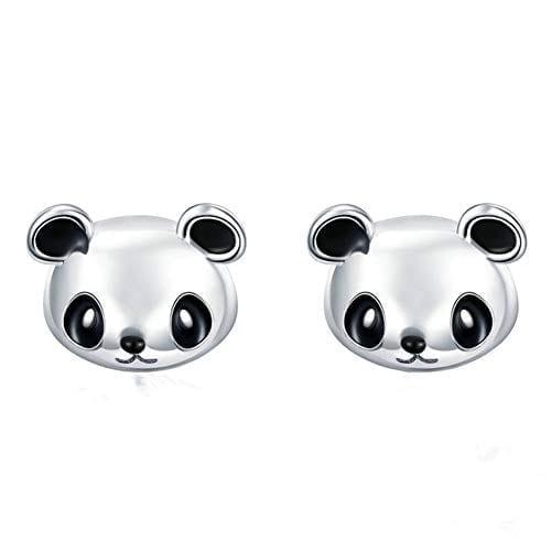 Silver Teddy Bear Ear Studs 925 Sterling Girls Jewelry