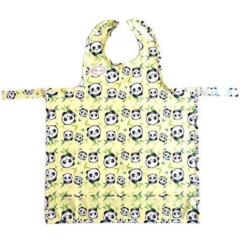 Baby A New Full-Coverage Bib and Apron Combination for Infant Toddler Ages 0-4+ BIB-ON One Size Fits All!
