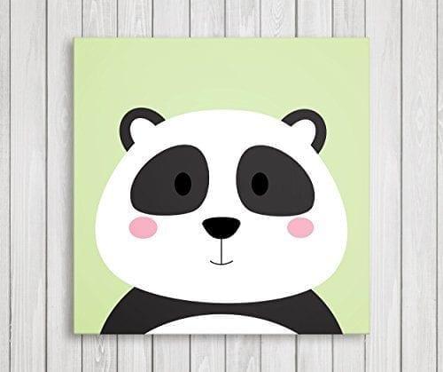 Cute Little Animals Nursery Wall Decor Baby Room Canvas Art 11 W X H Panda