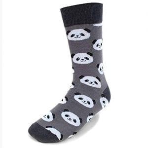 Mens Athletic Cushion Crew Sock Happy Birthday Cute Panda Long Sock Comfort