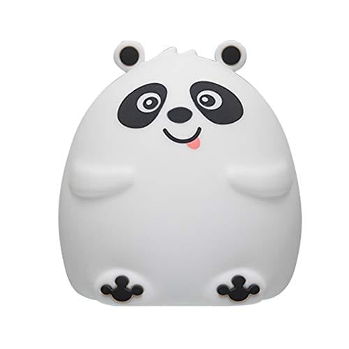 Mubarek Nursery Night Lights For Kids Nightlights Children Silicone Cute Animal Lamp Baby Toddler Soft Portable Color Changing Panda