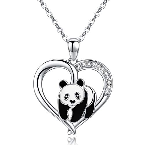 Rhodium-plated 925 Silver Best Friends In Heart Pendant with 30 Necklace Jewels Obsession Best Friends In Heart Necklace