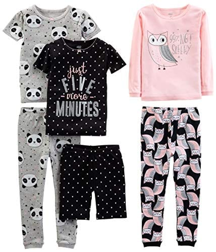 Girls Snug Fit Cotton Pajama Set Sleepwear