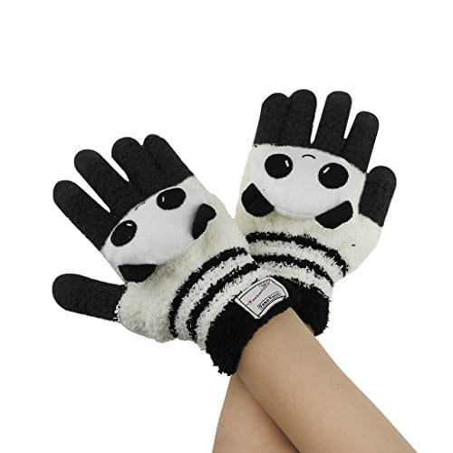 Panda paws for warm men and women with child gloves Gift 3 size